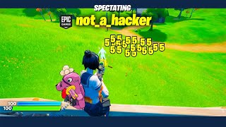 Spectating suspect Fortnite players...