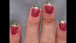 Fruit series: Watermelon nails