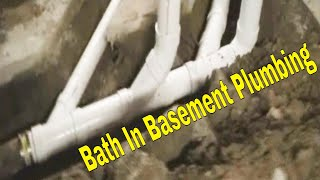 Bath In Basement Install Layout