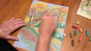 How to Draw a Fall Walk in the Woods
