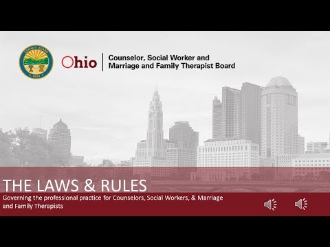 Ohio CSWMFT Board Laws & Rules Video