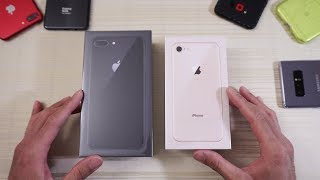 Apple iPhone 8 and iPhone 8 Plus - Double Unboxing! (4K)