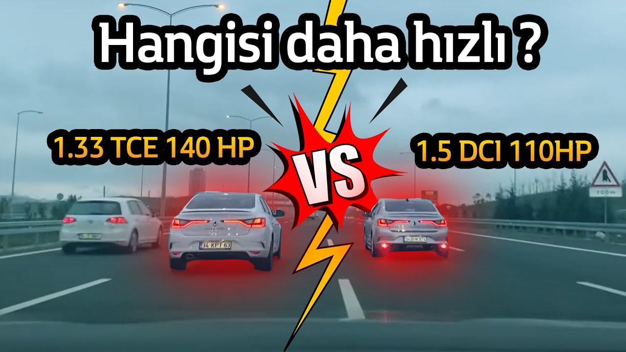 1.5 DCI 110 HP vs. 1.3 TCE 140 HP | HIZLANMA  - DRAG HANGİSİ DAHA HIZLI ?