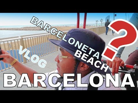 Exploring Barceloneta Beach - Spain Barcelona Travel vlog