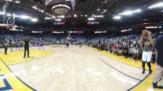 Stephen Curry Pre-Game 3-Pointers in 360 Degrees!!!