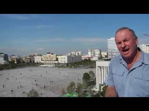 A modified narrative that presents Skanderbeg Square, Tirana, Albania
