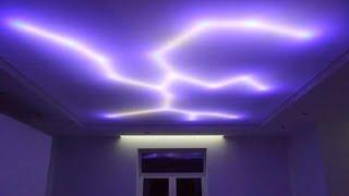 Led подсветка потолка своими руками)))