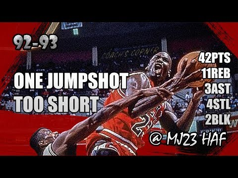 Michael Jordan Highlights vs Spurs (1993.01.24) - 42pts, Carrying the Bulls!