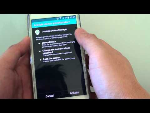 Samsung Galaxy S5 How To Enable Disable Android Device Manager