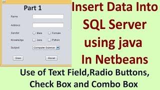 Insert data into SQL server using java Part -1