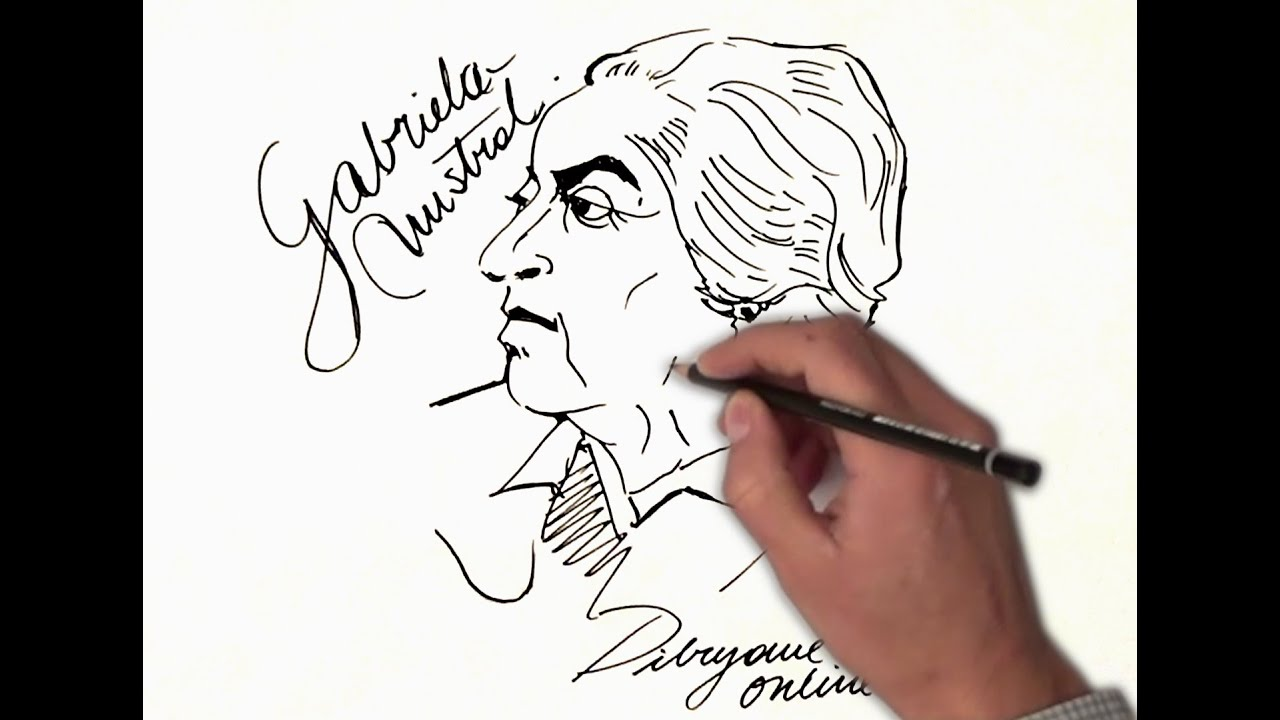 Biografia Gabriela Mistral Para Niños Dibujada Youtube