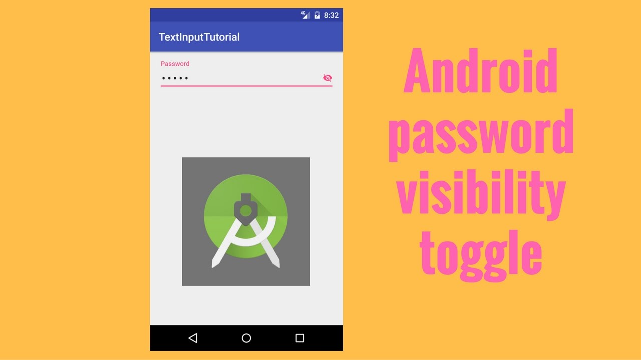 intro to android password visibility toggle youtube