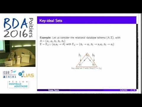 Karima Ennaoui - Hybrid algorithms for candidate keys enumeration for a relational schema
