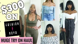 $300 ON FASHION NOVA?! TRY-ON HAUL!