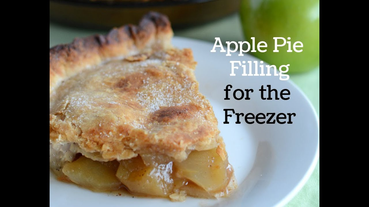 How to Make Apple Pie Filling to Freeze