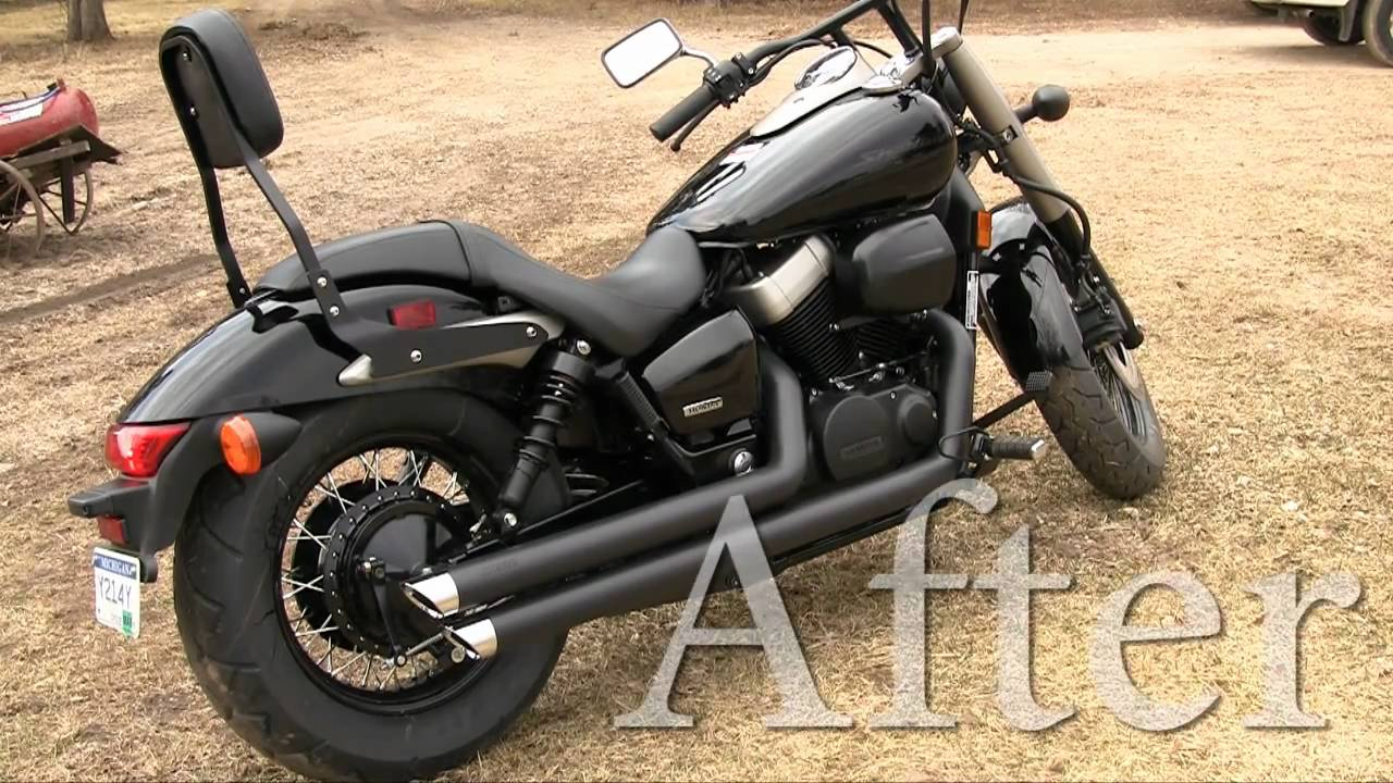 Honda Shadow Phantom Cobra Streetrod Slashdown Black