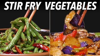 Easy Recipes: Stir Fry Vegetables - Green Beans and Eggplant