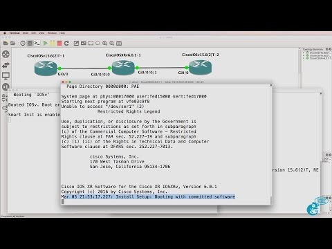 GNS3 Talks: Cisco IOS-XRv import and configuration Part 1: Don