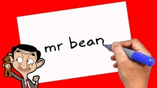 Mr Bean How to turn words Mr bean into cartoon - Theakashcreations