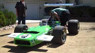 Ron Grable reunites with his 1969 model Formula 5000 Lola T190