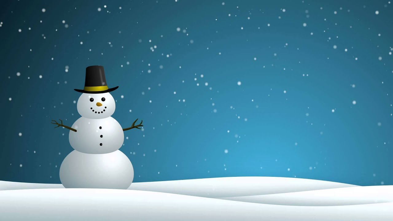 Fall Themed Wallpapers Cartoon Snowman Hd Background Loop Youtube