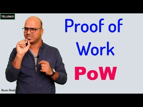 Proof Of Work In Blockchain