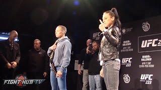 Rose Namajunas vs Joanna Jędrzejczyk 2 -  Intense Face off for UFC 223