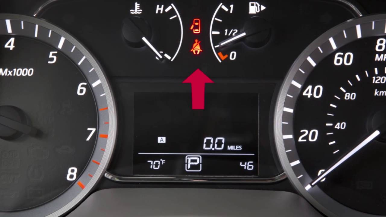 2017 Nissan Sentra Seat Belt Warning Light And Chime
