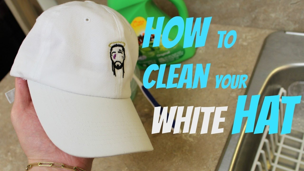 ead44eef797 HOW TO CLEAN YOUR WHITE HAT - YouTube