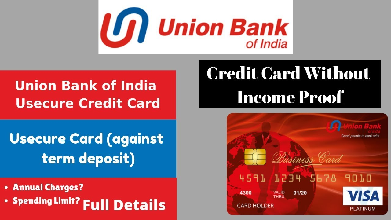 credit card form bank of india