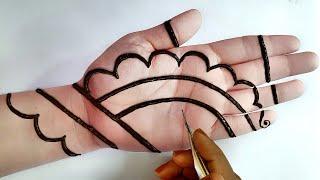 Easy Trick Hand Mehndi with lines | Mehndi for Beginners | Mehndi Design Trick