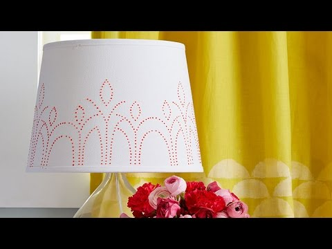 Easy Paint Embellished Lamp Shade Youtube