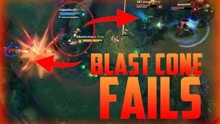 LoL Funny Blast Cone Fails - New Plants League of Legends
