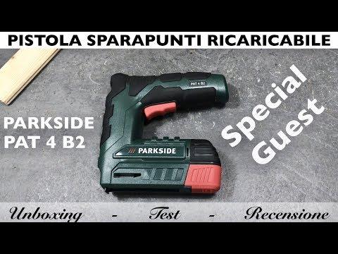 Pistola sparapunti ricaricabile parkside pat 4 b2 lidl for Pistola sparapunti parkside