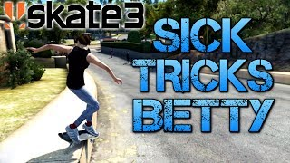 Skate 3 - Part 11 | SICK TRICKS BETTY | Playing on easy mode