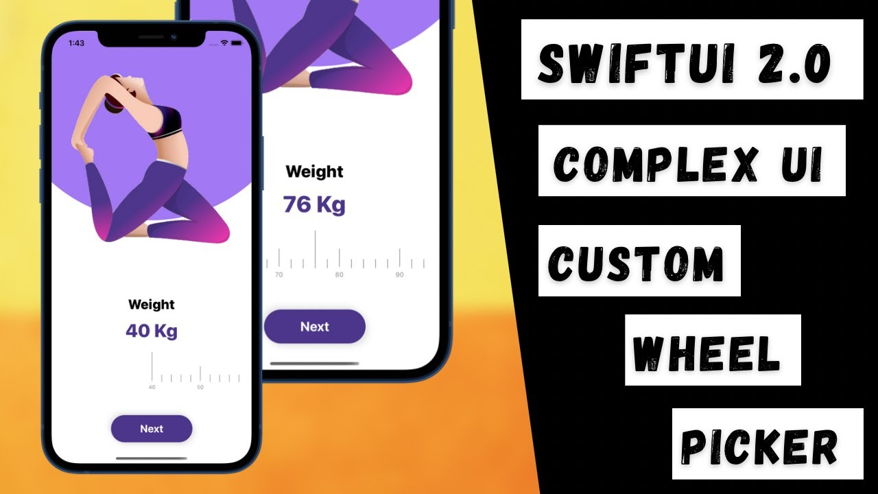 SwiftUI 2.0 Complex UI - Custom Horizontal Wheel Picker - Custom Animations