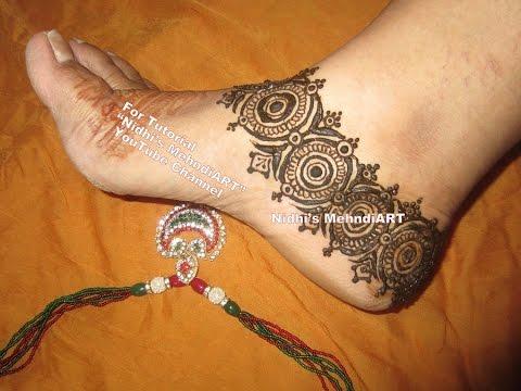 Mehndi Ankle Instagram : Intricate bridal anklet feet ornament jewelery design inspired