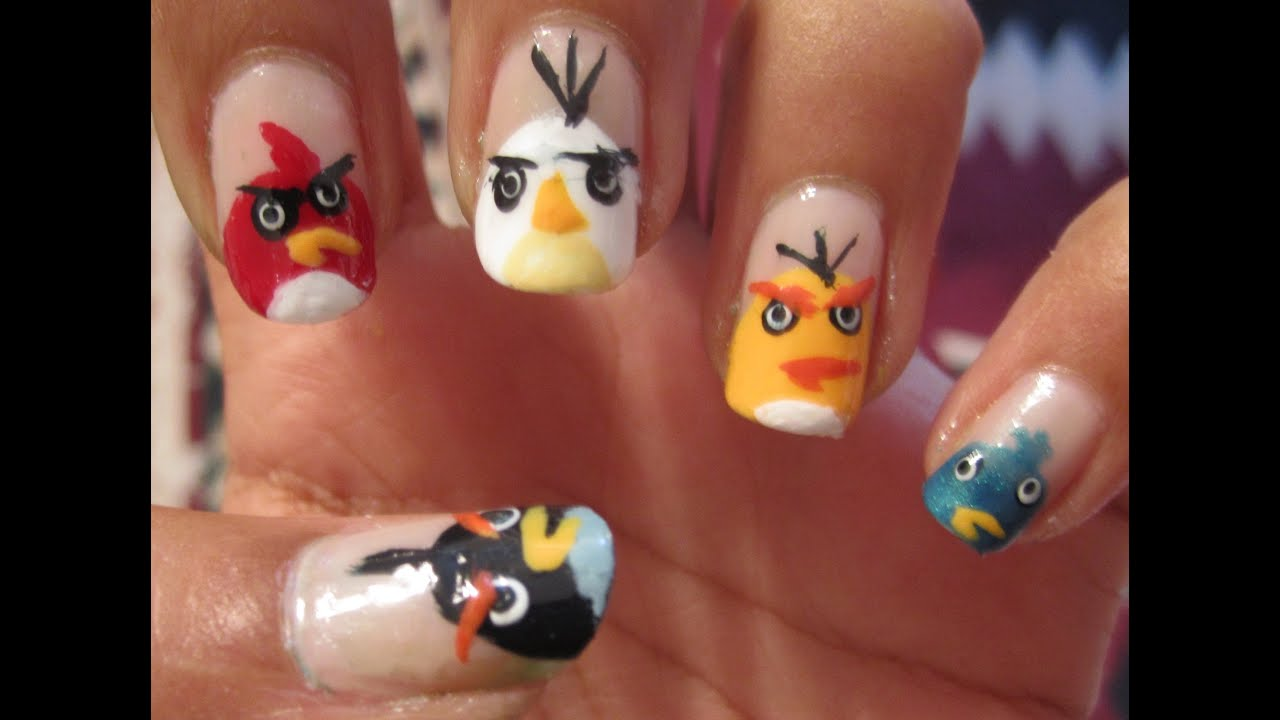 Angry Birds Nails - YouTube