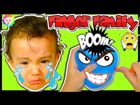 Thumbnail: Real BAD BABY CRYING Popping BALLOONS SONGS and Daddy Finger Family Song | LEARN COLOURS for Babies