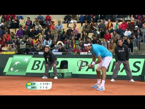Nadal's Best Points vs Del Potro - Davic Cup Final 2011
