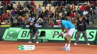 Nadal's Best Points vs Del Potro - Davic Cup Final 2011