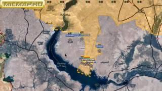 Видео обзор карты боевых действий в Сирии и Ираке от 20 12 2016г
