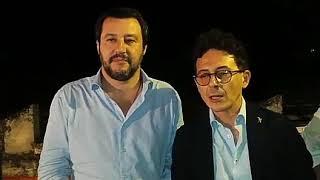 Barletta, Amministrative 2018: Matteo Salvini per Flavio Basile (Lega)