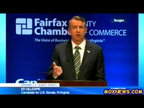 MARK WARNER vs ED GILLESPIE Virginia Senate Debate