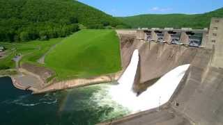 Flyover of Kinzua Dam and Allegheny Reservoir in Pennsylvania