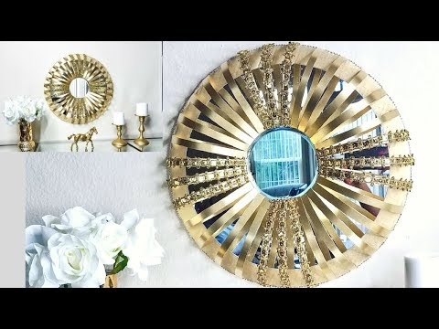 """Diy Quick and Easy """"Mirror on a Mirror"""" Wall Decor