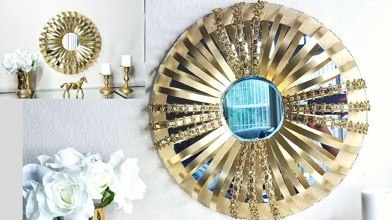 Diy Quick And Easy Mirror On A Wall Decor