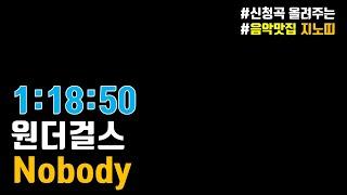 ?원더걸스(Wonder Girls) Nobody (노바리 노바리 벗쮸) ? 1시간듣기? ▶신나는 추억노래◀ …
