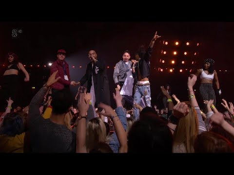 MTV EMA 2017 Unforgettable Stage invasion FT French Montana & Swae lee