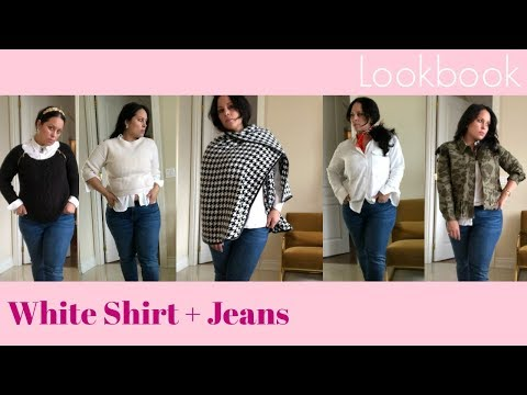 White Shirt + Jeans Lookbook | Wes Anderson inspired
